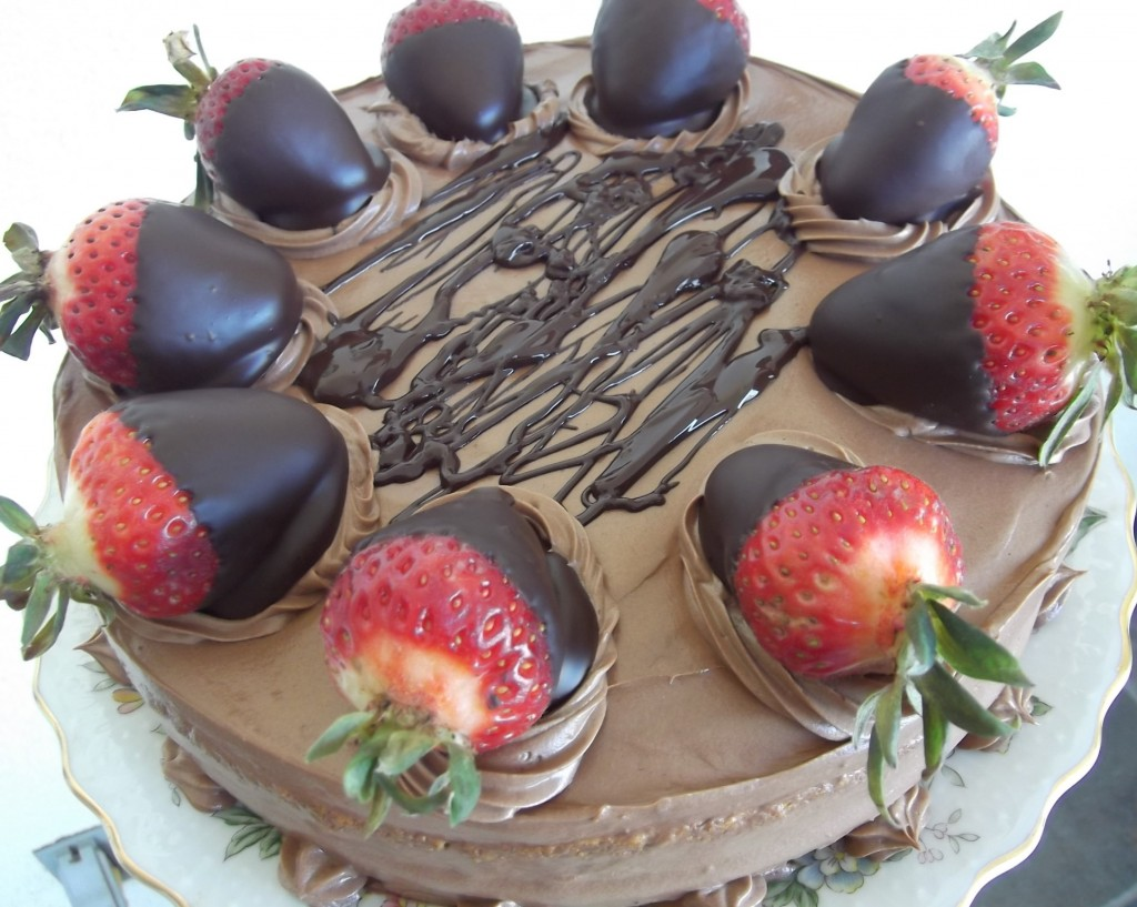 Smooth Chocolate Mousse Cake