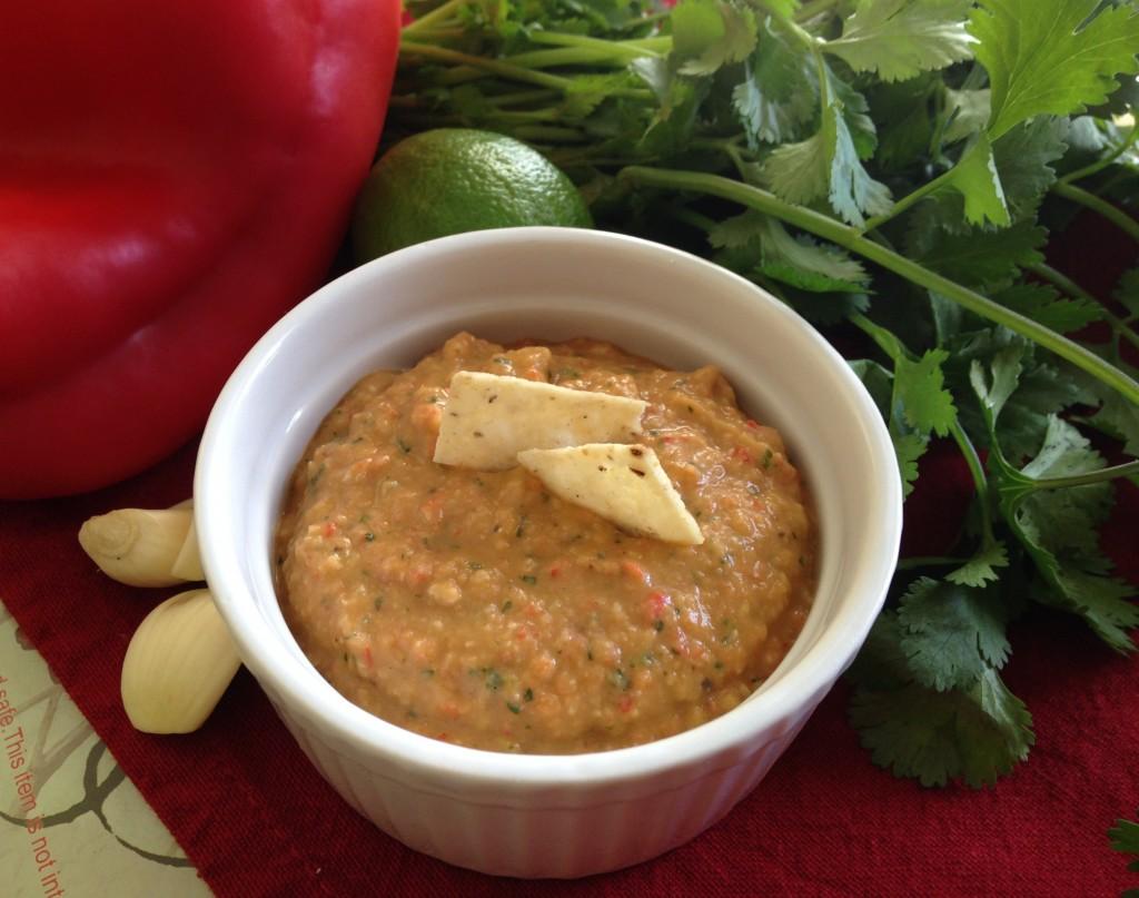 Roasted Pepper & Cilantro Hummus