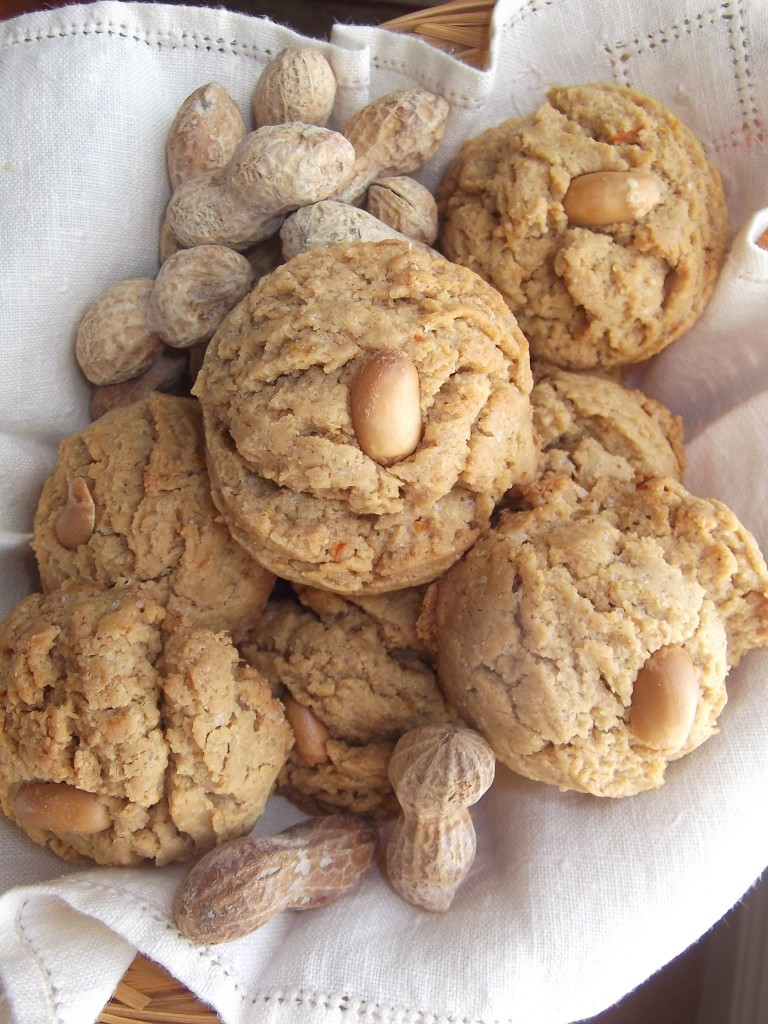 Orange/Ginger Peanut Butter Cookies
