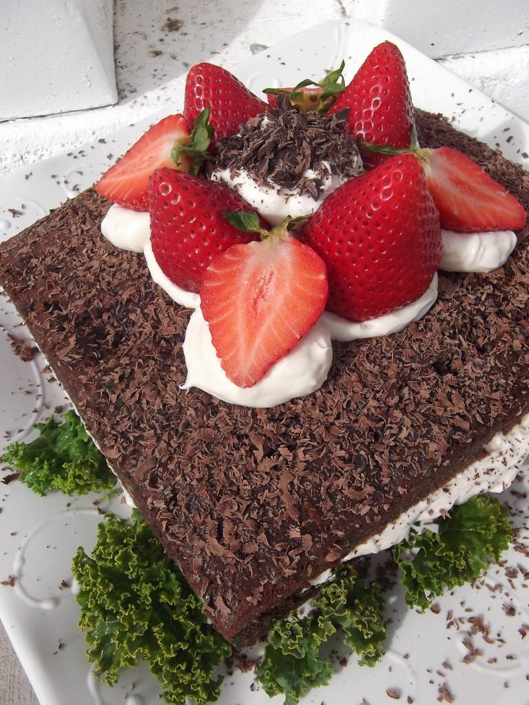 Vlada's Chocolate Kale Cake